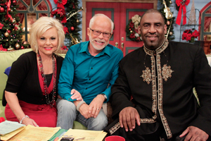 Pastor Jim Bakker and Lori Bakker with Pastor Cedric Hayes