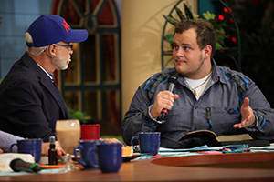 Pastor Jim Bakker and Zach Drew