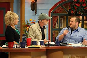 Lori Bakker, Pastor Jim Bakker, and Zach Drew