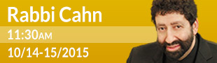 Rabbi Jonathan Cahn 11:30 am Oct 14-15, 2015
