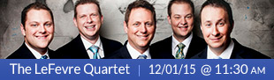 The LeFevre Quartet 11:30 am Dec 1, 2015