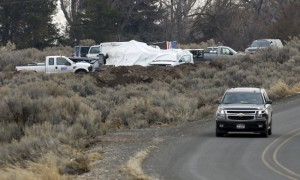 A view of the former occupiers' campsite at the headquarters to the Malheur National Wildlife Refuge outside Burns, Oregon, on February 12, 2016. REUTERS / Jim Urquhart